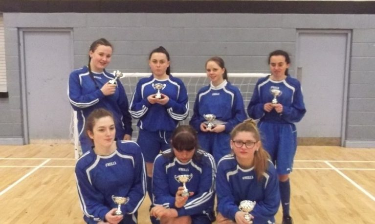 Dublin schools Girls Indoor Football